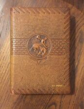 Stamped Leather WILL ROGERS Ambassador of Good Will 1935 Prince of Wit & Wisdom