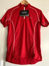 NWT Womens Gore Bike Wear Cycle Jersey/Top Half Zip Sz Large Red Retail $70