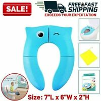 Potty Training Toilet Seat Cover Non Slip Folding Silicone Pads Travel Portable