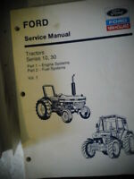 Ford New Holland Vol. 1 Service Manual Tractors Series 10, 30 Engine Fuel System