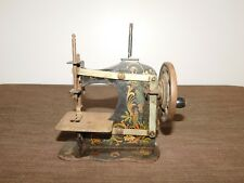 "VINTAGE ANTIQUE 6"" HIGH MINI METAL SALESMAN SAMPLE TOY SEWING MACHINE"