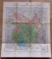 CARTA DELLE ZONE FAUNISTICHE DELLA PROVINCIA DI PISTOIA C.A. 1930-L2850