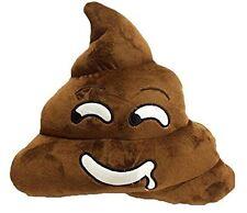 "USA SELLER LARGE 12"" inch 33cm Emoji Brown Poop Pillow Smile Emoticon Saliva Poo"