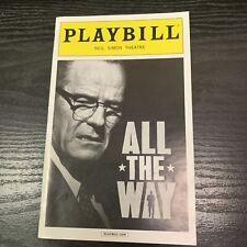 ALL THE WAY Feb 2014 Broadway Playbill! BRYAN CRANSTON