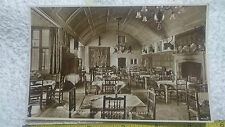 """W. Dennis Moss Postcard No: 3 """"The Great Hall of Lygon Arms, Broadway"""" RP Sepia"""