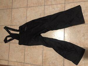 Karbon Snow Pants Zip Off Suspenders Bib Snowboarding Ski Black XS