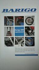 BARIGO 600 Supermotard 1993 Prospectus Catalogue Brochure Moto