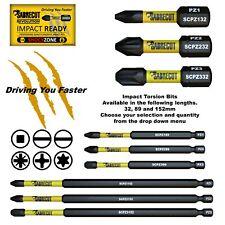 SabreCut Mixed Impact Driver Screwdriver 32,50,65,89,152mm Bits HX PH PZ SQ TX