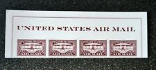 2018USA #5282 Forever United States Air Mail Red - Header strip of 4  Mint NH