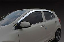 Chrome Weather shields Wind Deflectors 4pcs for 2018 KIA All New Picanto
