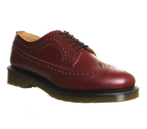Dr. Martens 3989 Brogue Shoes Cherry Red Rouge Smooth UK 3  RRP £169