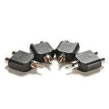 4x RCA Y Splitter Audio-Video Plug Converter Male to 2 Female Cable Adapter QW
