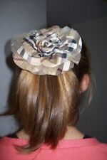 BURBERRY NOVACHECK SILK FLOWER - HAIR ELASTIC RUBBER