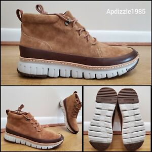 🔥 Cole Haan GrandSport Chukka C31412 Suede Boots Men's US Size 9 & 10 Tan
