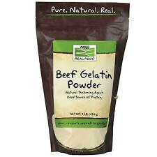 NOW Foods Beef Gelatin Powder 16 oz (1 lb), Source of Protein FRESH, MADE IN USA