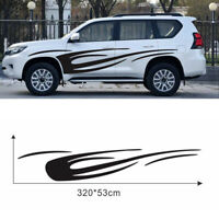 1x Car Body Glossy Black Sticker Streamline Flame Style Decal Decor Universal