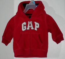 babyGAP Size 3-6 Months Boys Red Fleece Hoody Jacket