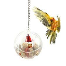 Birds Parrots Hanging Cage Bell Foraging Chain Ball Toys Food Feeder For Treats