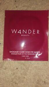 Wander Beauty Baggage Claim Gold Eye Masks 1 Pair New