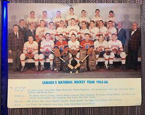 Canada's national hockey team photos with original signatures of players -67