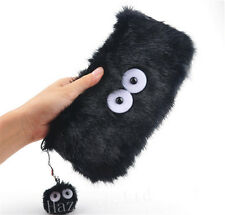 Anime My Neighbor Totoro Dust Bunny Plush Phone Case Coin Purse Pouch Gift