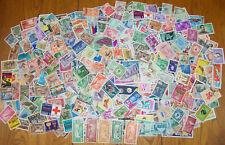MONDE : AFRIQUE - AMERIQUE - ASIE 440 timbres anciens diff de 50 ans et + -Lot B