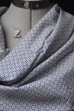IKKS. ravissante toile coton viscose petit motif géométrique bleu, blanc