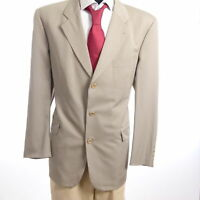 HUGO BOSS Sakko Jacket Tataglia Gr.54 beige uni Einreiher 3-Knopf -S956
