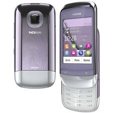 Genuine Nokia C2-06 Lilac Color Slide Mobile Dual Sim with Warranty
