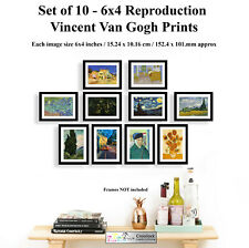 Vincent Van Gogh Set of 10 6x4 Photo Picture Prints ONLY Wall Art Reproduction
