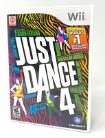 Just Dance 4 Game For Nintendo Wii From 2012 Complete With Case & Manual Insert