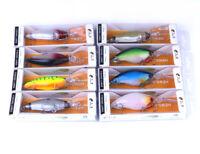 8PCS Lot 10.5cm/18g Minnow Fishing Bait Bass Crankbait Fish Lure Tackle Wobbler