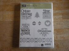 Stampin' Up Cling Mount Set Wrapped in Warmth RETIRED!!