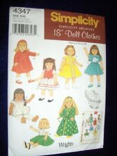 "18"" DOLL NEW Simplicity 4347 Archive Pattern Vintage Dresses Fits American Girl"