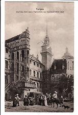 Torgau, Hof Schloss Hartenfels, Kutsche, Pferde, Hund,  1921 gut erhalt. s.Scan