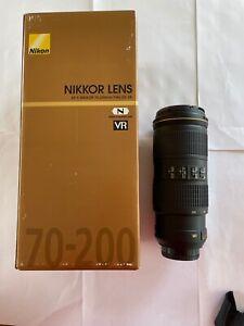 Nikon Nikkor AF-S 70-200mm f/4 ED VR lens in mint condition, boxed.