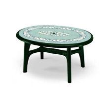 Tavolo da Giardino Esterno Resina Ovale Ferro Battuto Plastica Ovolone 1500 Scab