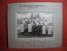 Groß - Foto Militärärzte 1 Weltkrieg Tübingen 1907 Fortbildungskurs Württemberg