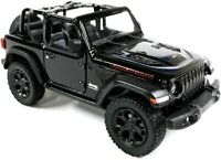 2018 Jeep Wrangler Rubicon Convertible Black Diecast Model Toy Car 1:34 Scale 5""