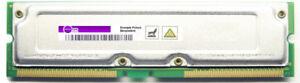 256MB Toshiba ECC Rdram PC800-45 800MHz THMR1E16E-8 Rimm Memory Module