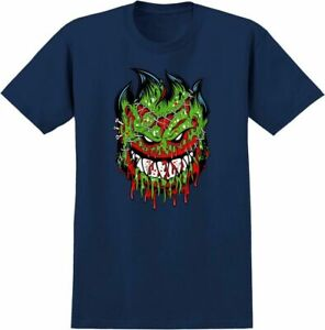 SPITFIRE WHEELS - Skateboard Tee Shirt - Medium / Navy - Zombie