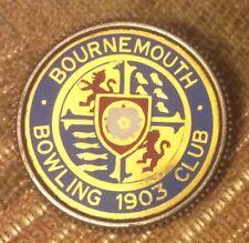 Bournemouth Bowling Club Badge - 1903