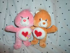 "Care Bears Friends Heart Love Couple 8"" Plush Soft Toy Stuffed Animal"