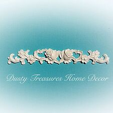 1x Shabby Chic French Style Rose Furniture Appliques Carving Onlays