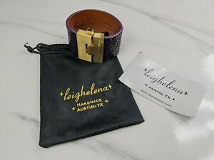 Lovely Purple Exotic cuff from Leighelena Jewellery