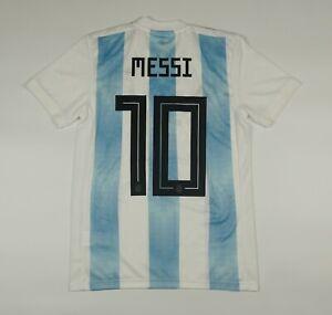 Messi #10 Argentina 2018 2019 Home Football Soccer Shirt Jersey Adidas Camiseta