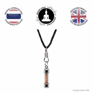 Buddhist Prayer Scroll Blessed Amulet Pendant Luck Love Protection Karma Gift