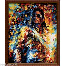 Framed Acrylic Paint by Number Kit 50x40cm (20x16'') Michael Jackson JC7081