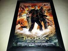 "PERCY JACKSON 2 : SEA OF MONSTERS SIGNED & FRAMED 12""X8"" POSTER LOGAN LERMAN"