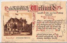 Ichendorf Urkunde Gasthaus Bayer 1905